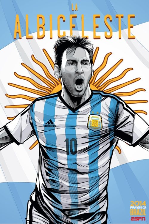 Espn Lanca Posters Incriveis Para As 32 Paises Da Copa Do Mundo