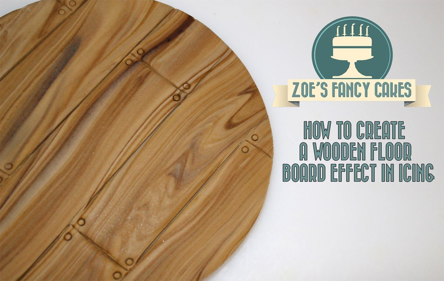 How to make a wooden floor board effect in icing for cake