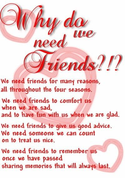 Why We Need Friends? | If you really know me..... | Pinterest ...