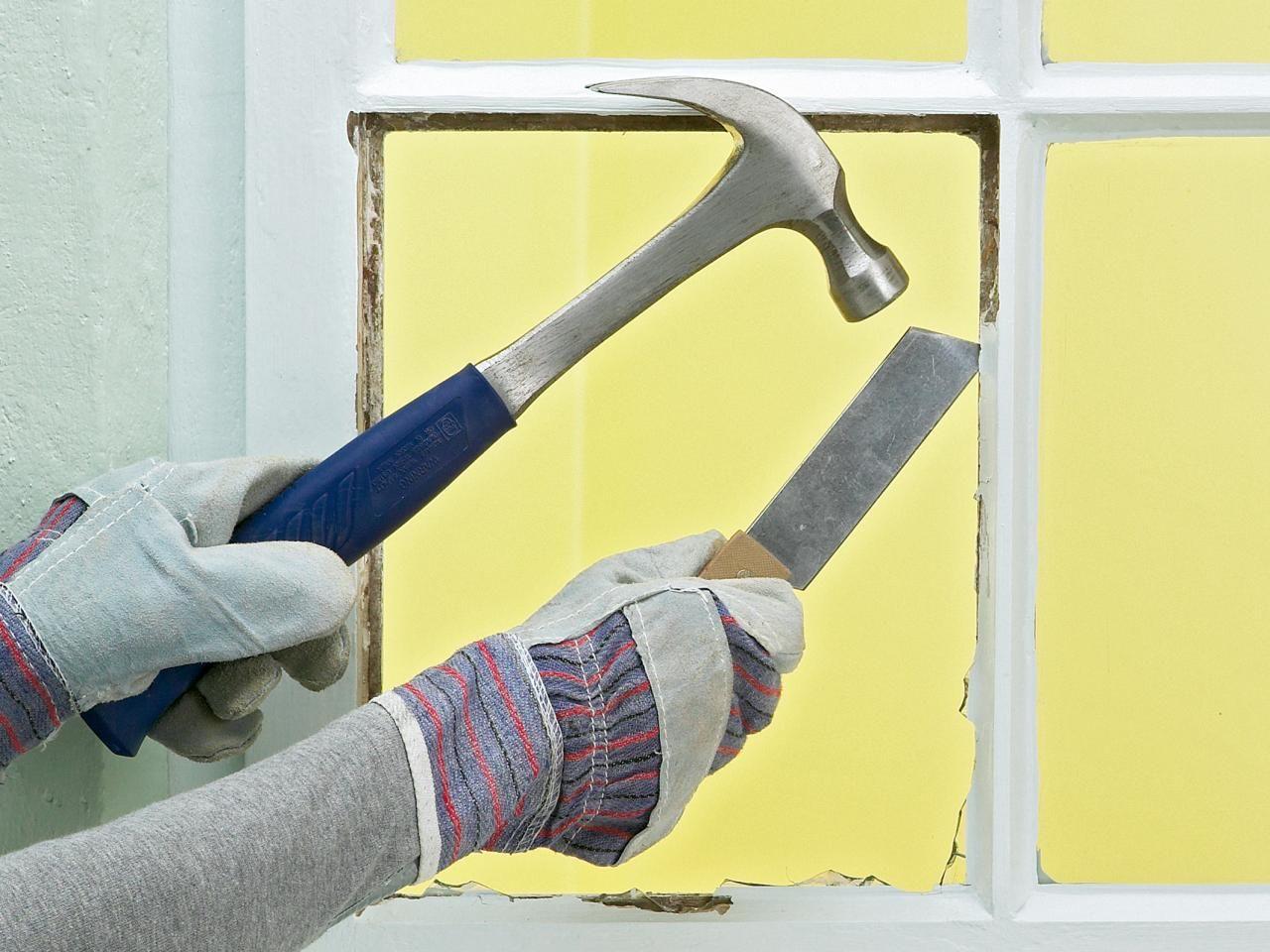 How to Replace a Broken Window Pane Broken window