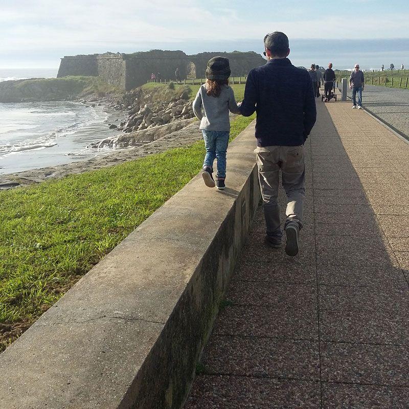 Passeio na praia com o papá e a mamã <3