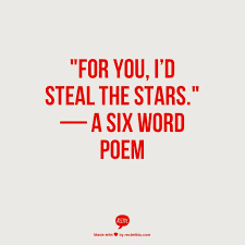 Image result for 6 word poems