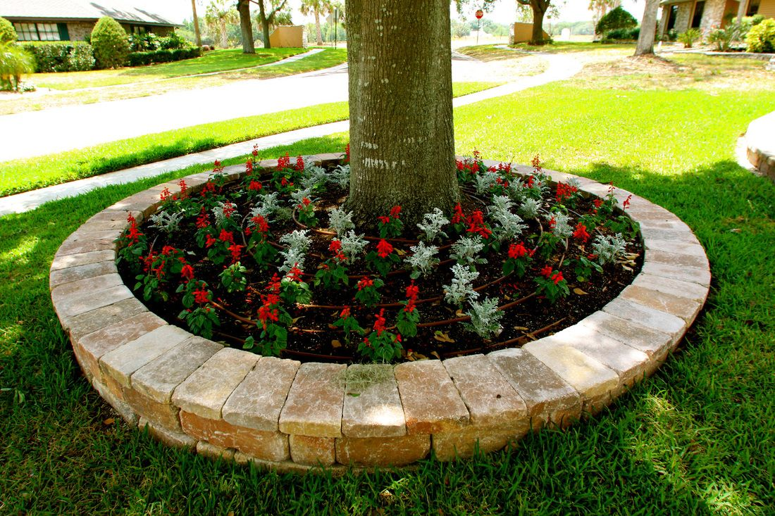 Flower beds can be found in different shapes and sizes and