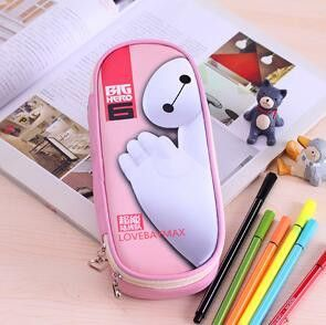 f509d091c7 kawaii Lovely Girls School Large Capacity PU Leathe Pencil Cases For kids