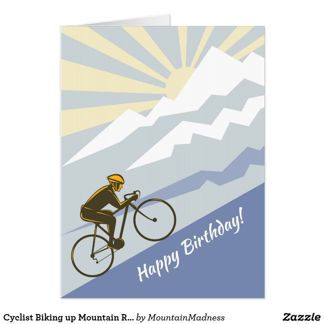 Cycling Bike Birthday Customised Card