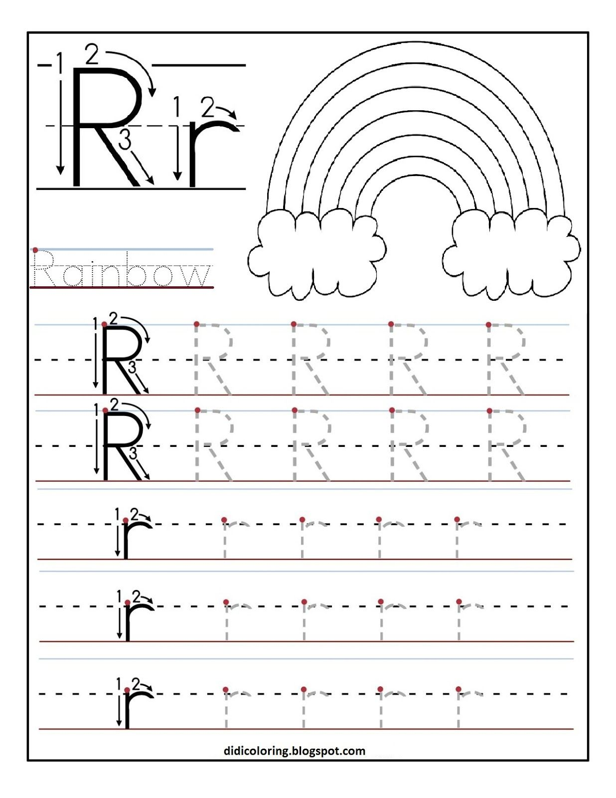 printable letter r tracing worksheets for 1 236 1 600 pixels letter r preschool. Black Bedroom Furniture Sets. Home Design Ideas