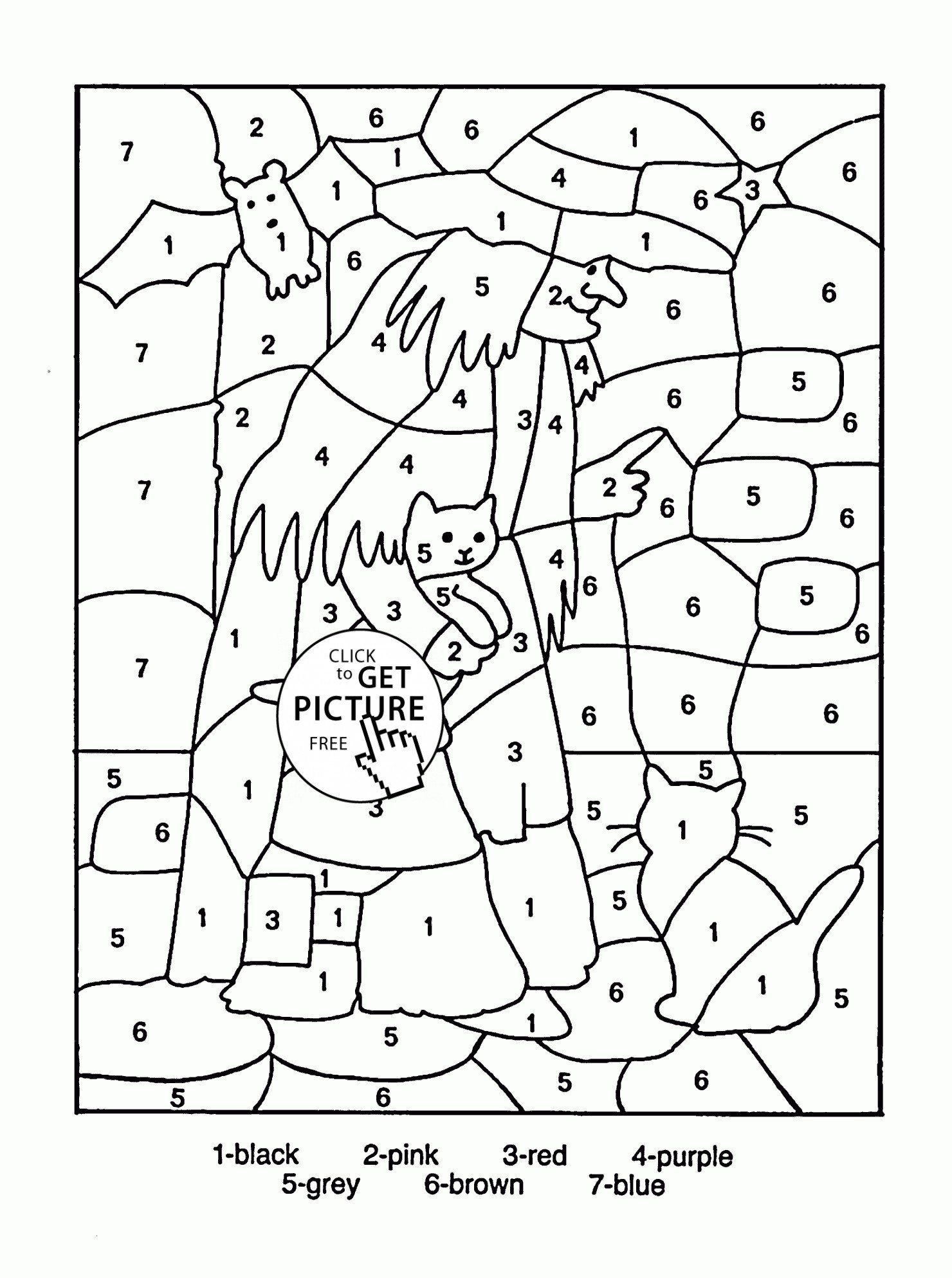 hight resolution of Christmas Math Coloring Worksheets 4th Grade   Printable Worksheets and  Activities for Teachers