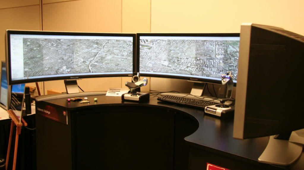Dual monitors home office ideas la office journal - Home office setup ideas ...