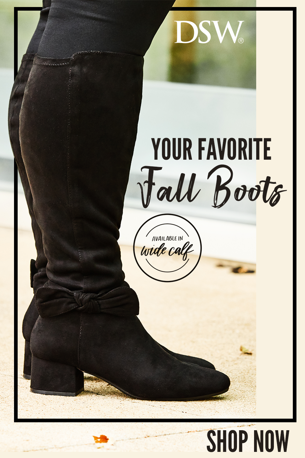 Meet your new favorite fall boots. This chic style hugs the calf perfectly,  and is available in a wide fit for all shapes and sizes.