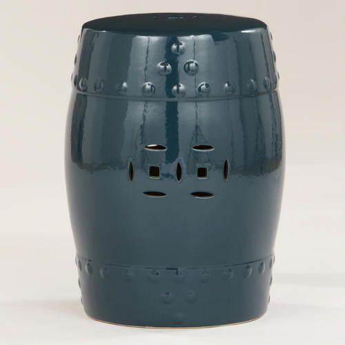 Mallard Lotus Ceramic Stool, $79