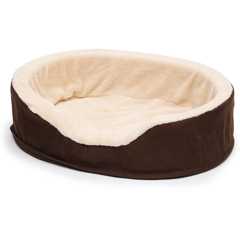 petco brown & tan orthopedic lounger dog bed   dog stuff