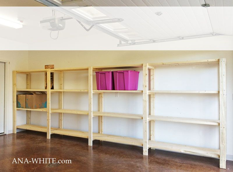 Ana White   Build a Easy  Economical Garage Shelving from 2x4s   Free and  Easy. 17 Best ideas about Garage Shelving on Pinterest   Diy storage