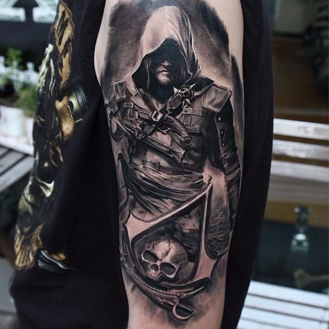 12 Badass Assassins Creed Tattoos Assassins Creed Tattoo Tattoo