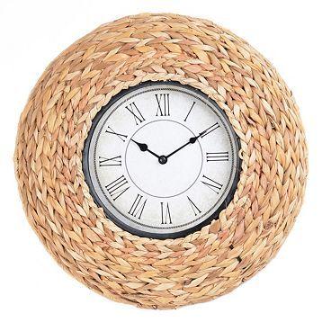 Woven Seagrass Clock Wall Decor Sale Unique Wall Clocks Unique Clocks
