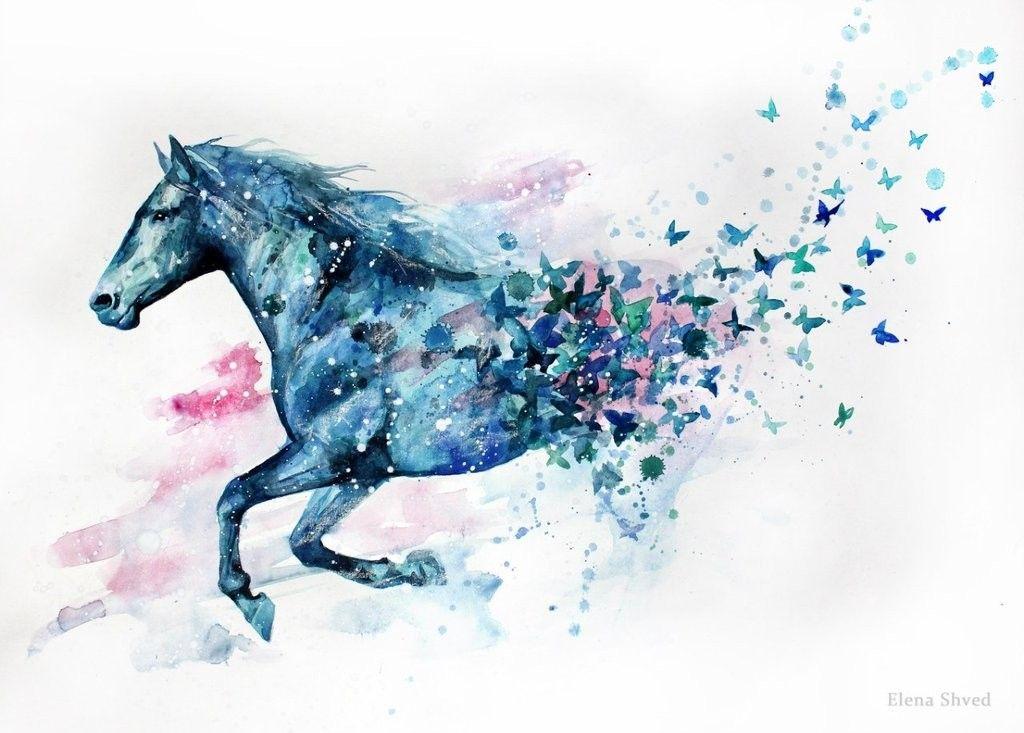painting elena shved des chevaux hauts en couleur en couleur painting et tatouages. Black Bedroom Furniture Sets. Home Design Ideas
