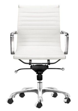 Amazon.com   Zuo Modern Lider Office Chair, White   Adjustable Home Desk  Chairs