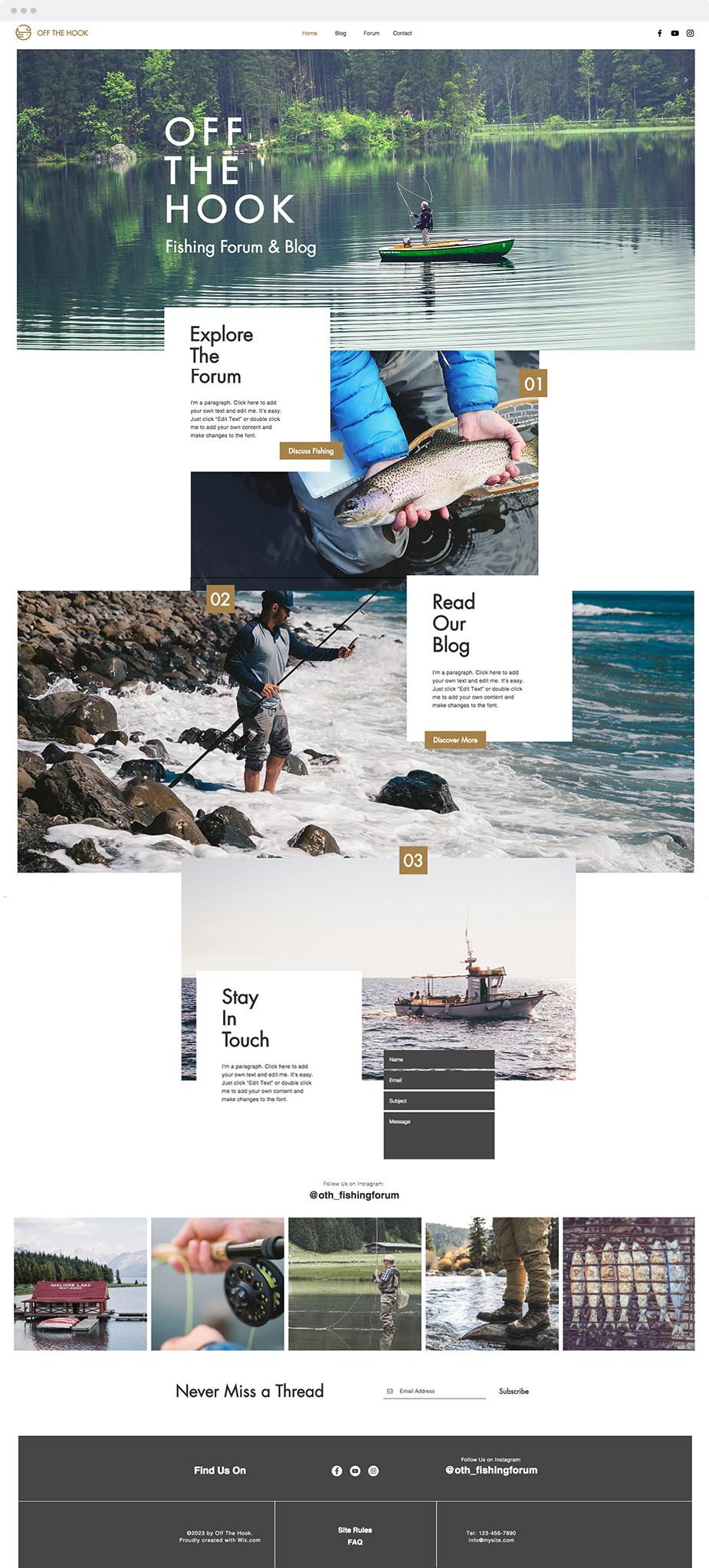 Fishing Forum Website Template Website Templates 웹