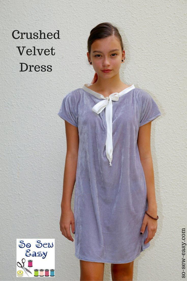 Crushed velvet dress free sewing pattern sewing patterns dress crushed velvet dress free sewing pattern and tutorial this crushed velvet dress is incredibly easy to make i hope it will make a great addition to your jeuxipadfo Gallery