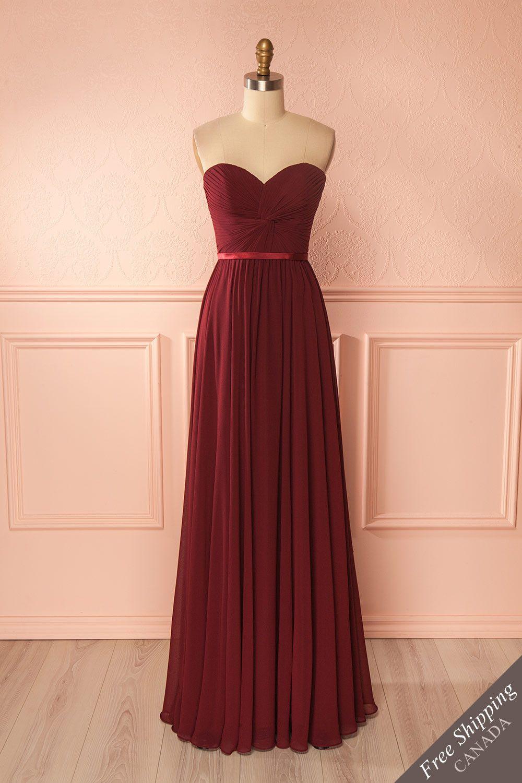 Myrcella Burgundy Chiffon Dress Burgundy Prom Dress Cheap Long Bridesmaid Dresses Burgundy Bridesmaid Dresses