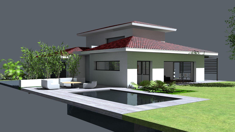 Plan Maison Architecte - Maison contemporaine à étage partiel avec ...