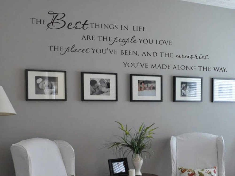 The Best Things In Life People You Love Place You Ve Been Etsy Living Room Vinyl Family Photo Wall Home Decor