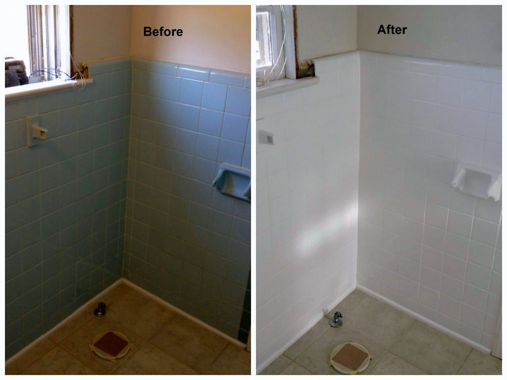 Here S Some Before And After Photos Of A Wall Tile Refinishing Reglazing Job We Did Recently Triangle Nc Tile Refinishing Wall Tiles Refinished