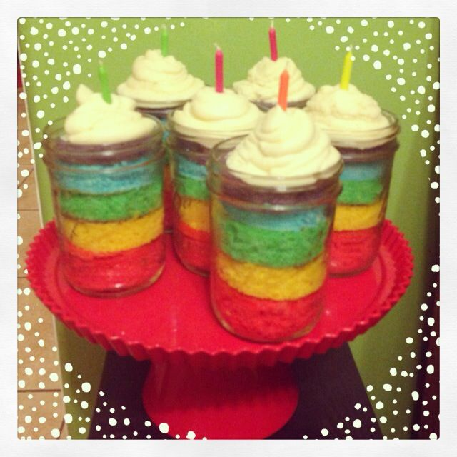 Rainbow Cake In A Jar 6 White Cake Boxes Pioneer Woman Best