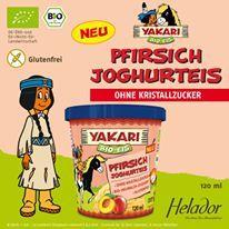 """""""YAKARI Bio Pfirsich Joghurteis von Helador * GLUTENFREI"""""""