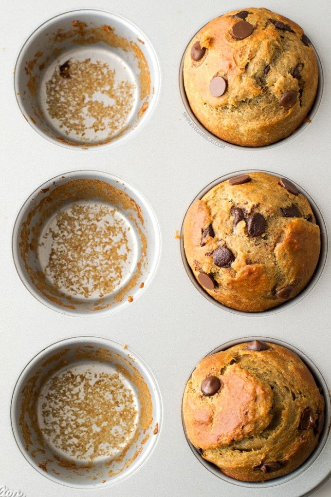 simple vegan chocolate chip muffins recipe a rooted. Black Bedroom Furniture Sets. Home Design Ideas