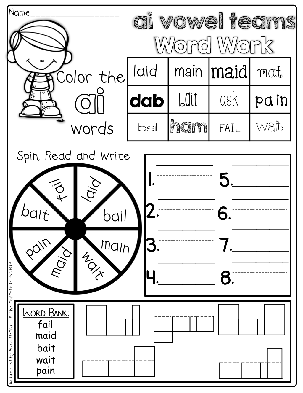Vowel Team Word Work Digraphs Blends And More So Many