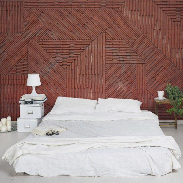 backstein tapete 3d vliestapete design ziegelstein rot fototapete backsteinoptik breit. Black Bedroom Furniture Sets. Home Design Ideas