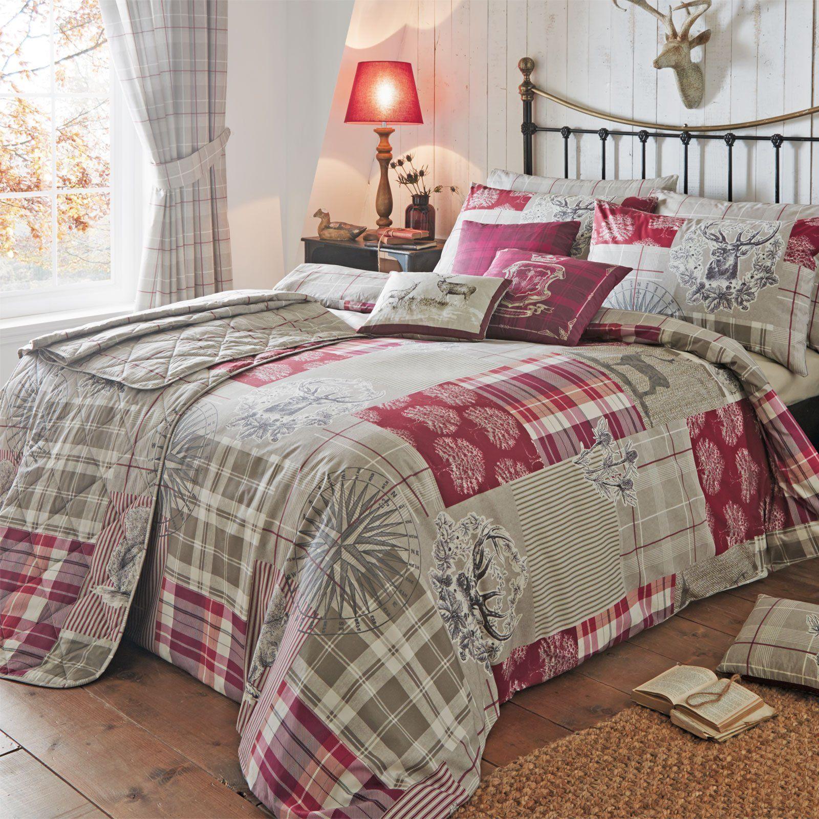 Just Contempo Double Size Country Tartan Patchwork Duvet Cover Set ... : tartan patchwork quilt - Adamdwight.com