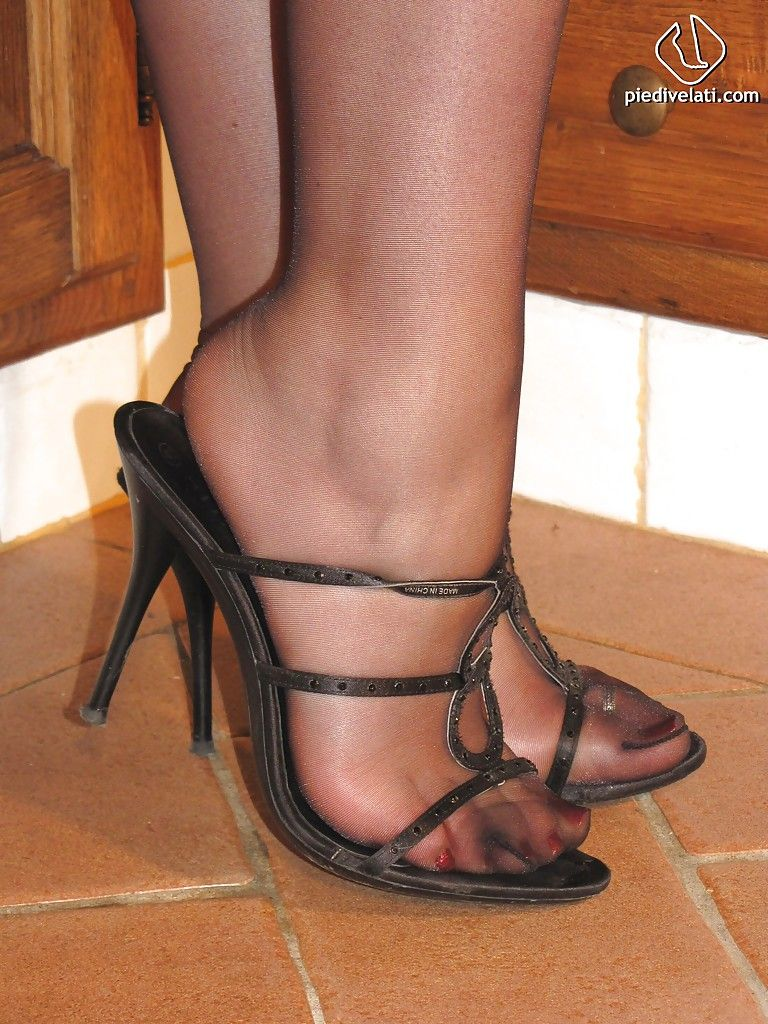 Agree, this pantyhose platform sandal bondage