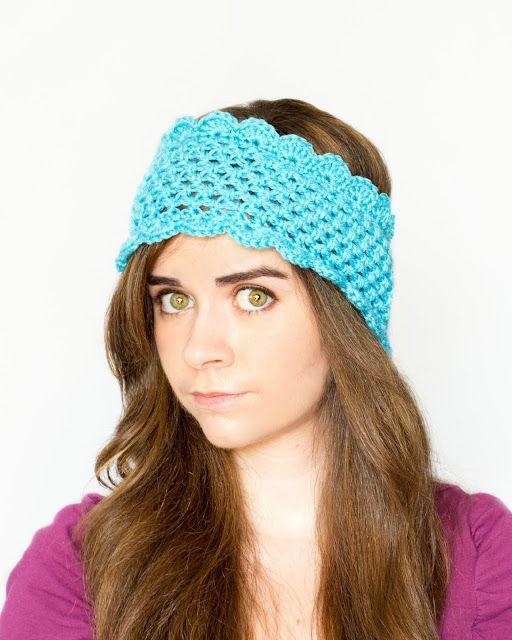 Dainty Scalloped Ear Warmer Crochet Pattern via Hopeful Honey | hats ...