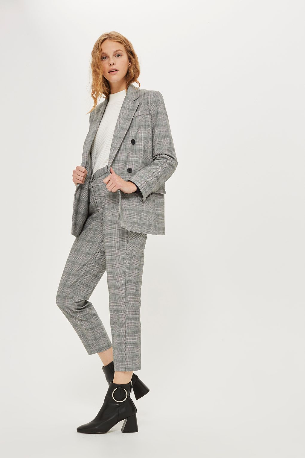 Checked Double Breasted Suit Clothes That Need Me Suits Trouser
