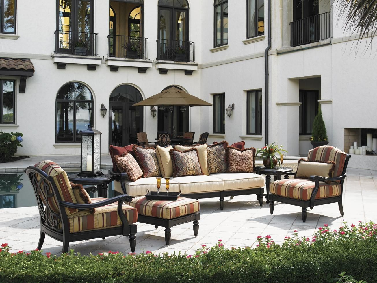 Kingstown Sedona Scatterback Sofa With Scroll Arms By Tommy Bahama