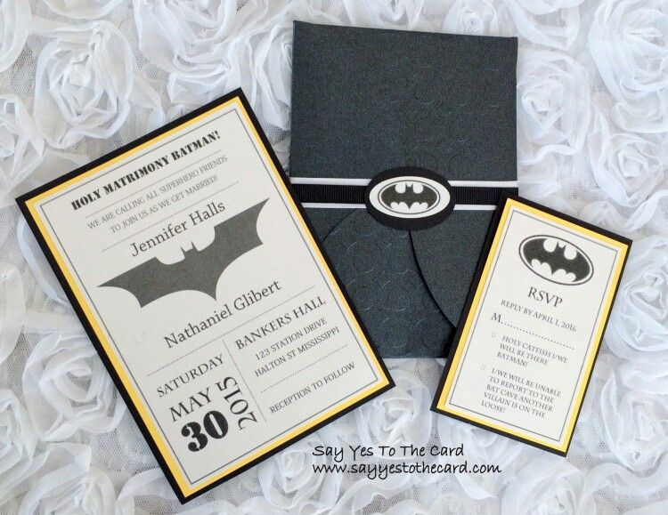 batman wedding invitations | wedding | pinterest | batman wedding, Wedding invitations