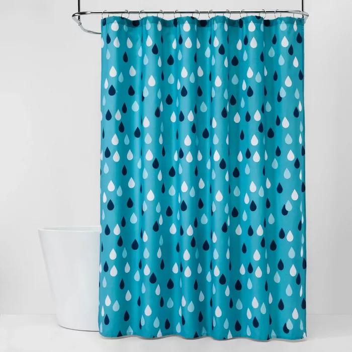 Raindrops Shower Curtain Pillowfort Kids Shower Curtain