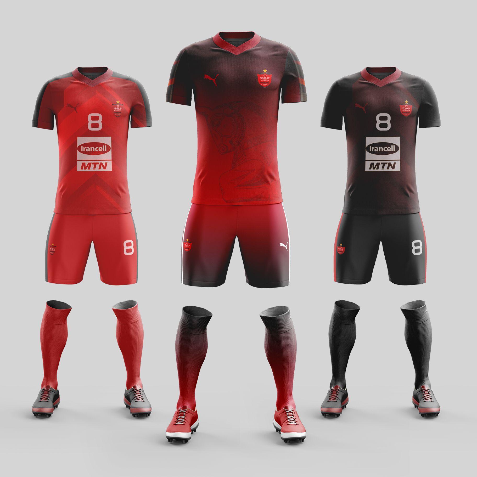 cheap for discount 387d1 e4d1d Perspolis Soccer Kit Design 2019 طراحی کیت تیم فوتبال ...