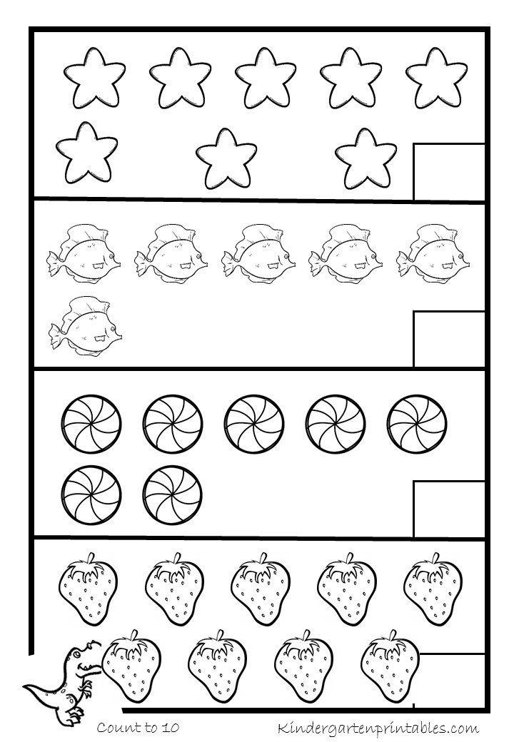 Kids Under 7 Preschool Counting Printables Preschool Counting Preschool Worksheets Preschool Printables