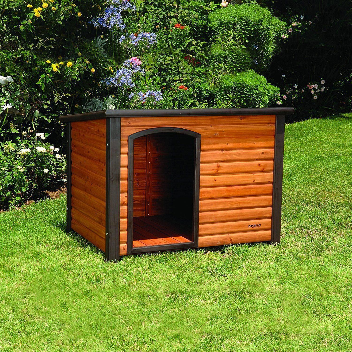 Wooden Dog House Puppy Shelter Outdoor Wood Elevated