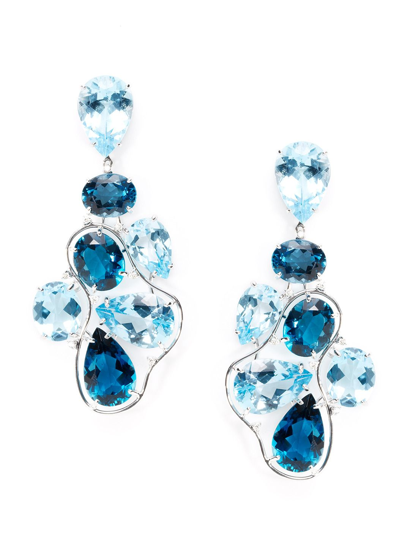 Blue topaz london blue topaz multi shape chandelier earrings blue topaz london blue topaz multi shape chandelier earrings by vianna at gilt aloadofball Image collections