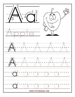 Printables Free Printable Letter Tracing Worksheets coloring preschool alphabet and worksheets on pinterest