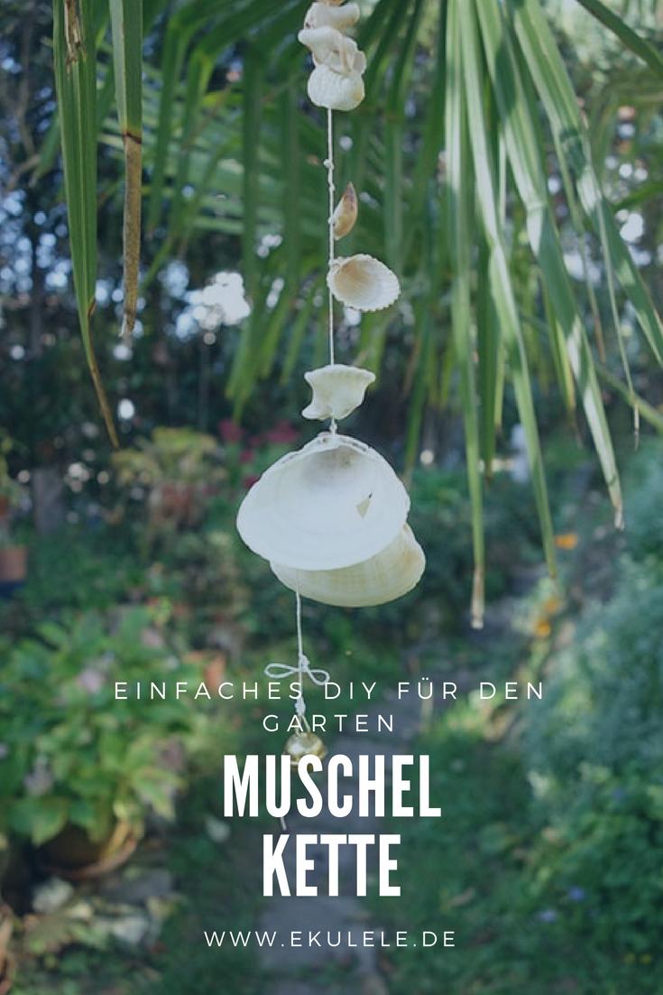 Hervorragend Einfaches DIY für den Garten. Muschelkette, Naturgarten, Basteln XX91