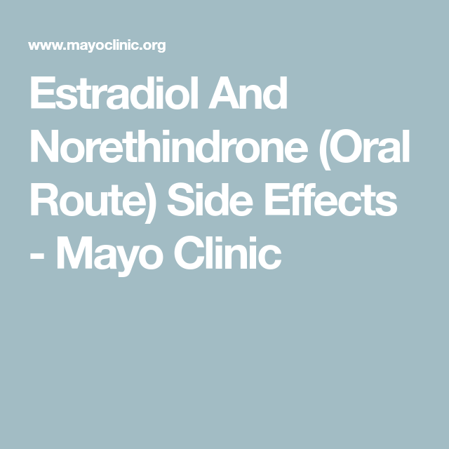 Estradiol And Norethindrone (Oral Route) Side Effects ...