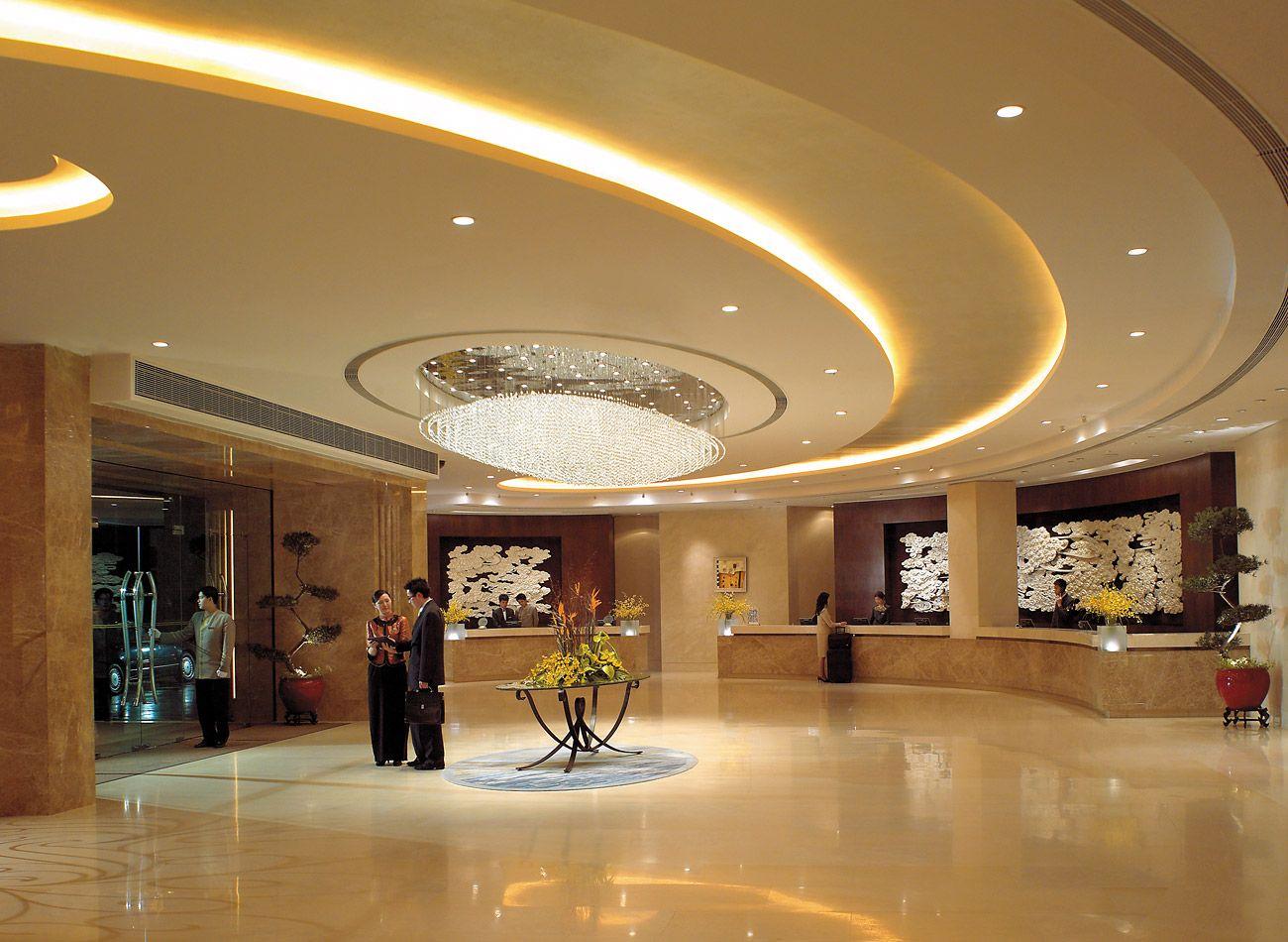 3d rendering luxury hotel lobby china luxury china hotel lobby - Lobby At 5 Star Hotel Shangri La Hotel Shenzhen This Hotel S Address Is East Side Railway Station Jianshe Road Luohu Railway Station Shenzhen 518001