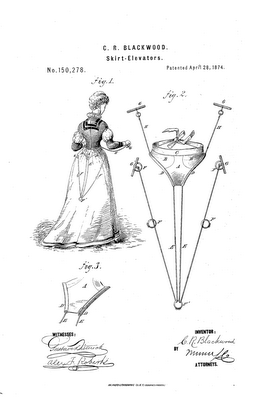 Interesting Victorian Inventions: The Skirt/Dress Lifter