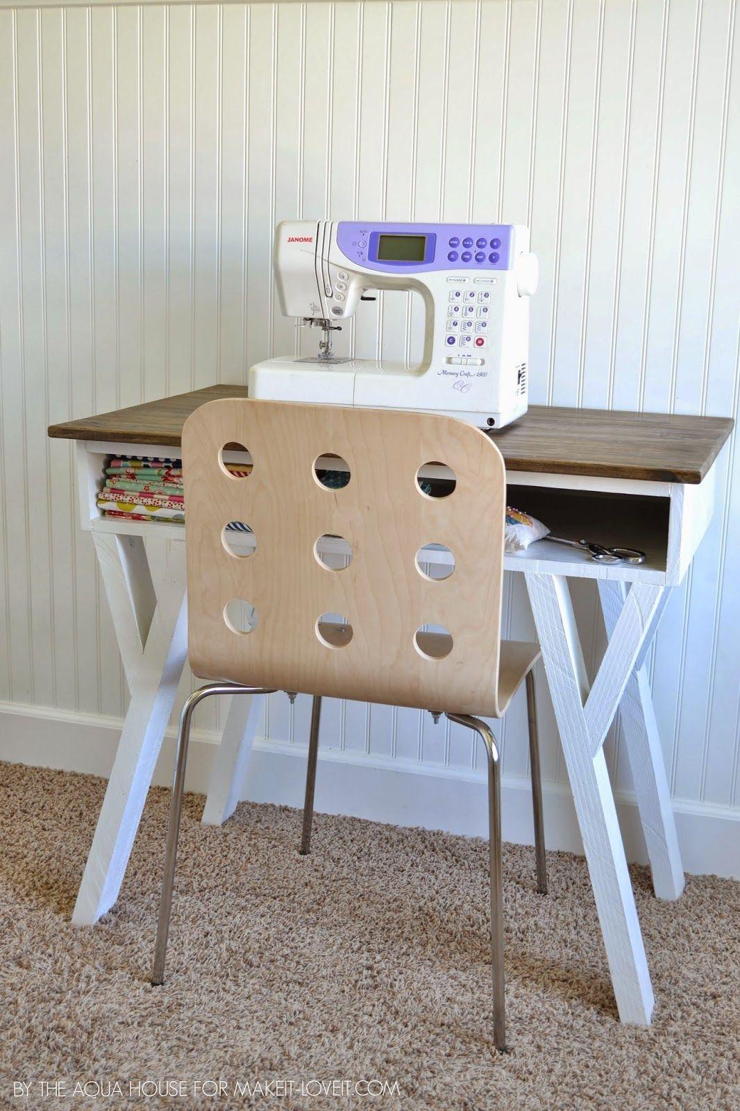 Diy farmhouse modern deskwith open front storage cubby