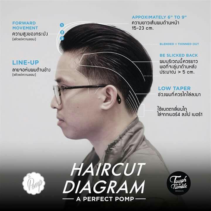 Haircut Diagram Mens Hair Pinterest