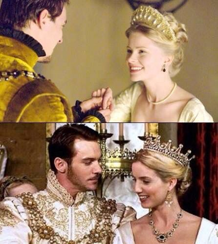 Henry and Jane - Jonathan Rhys Meyers with actresses: Anita Briem in Season 2 and  Annabelle Wallis in Season 3.